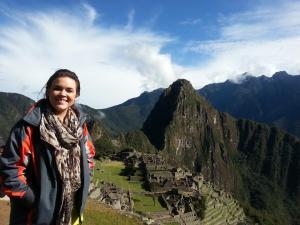 Overlooking Machu Picchu!